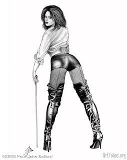 Mujeres Sexis Dibujos Realistas Lapiz Conte