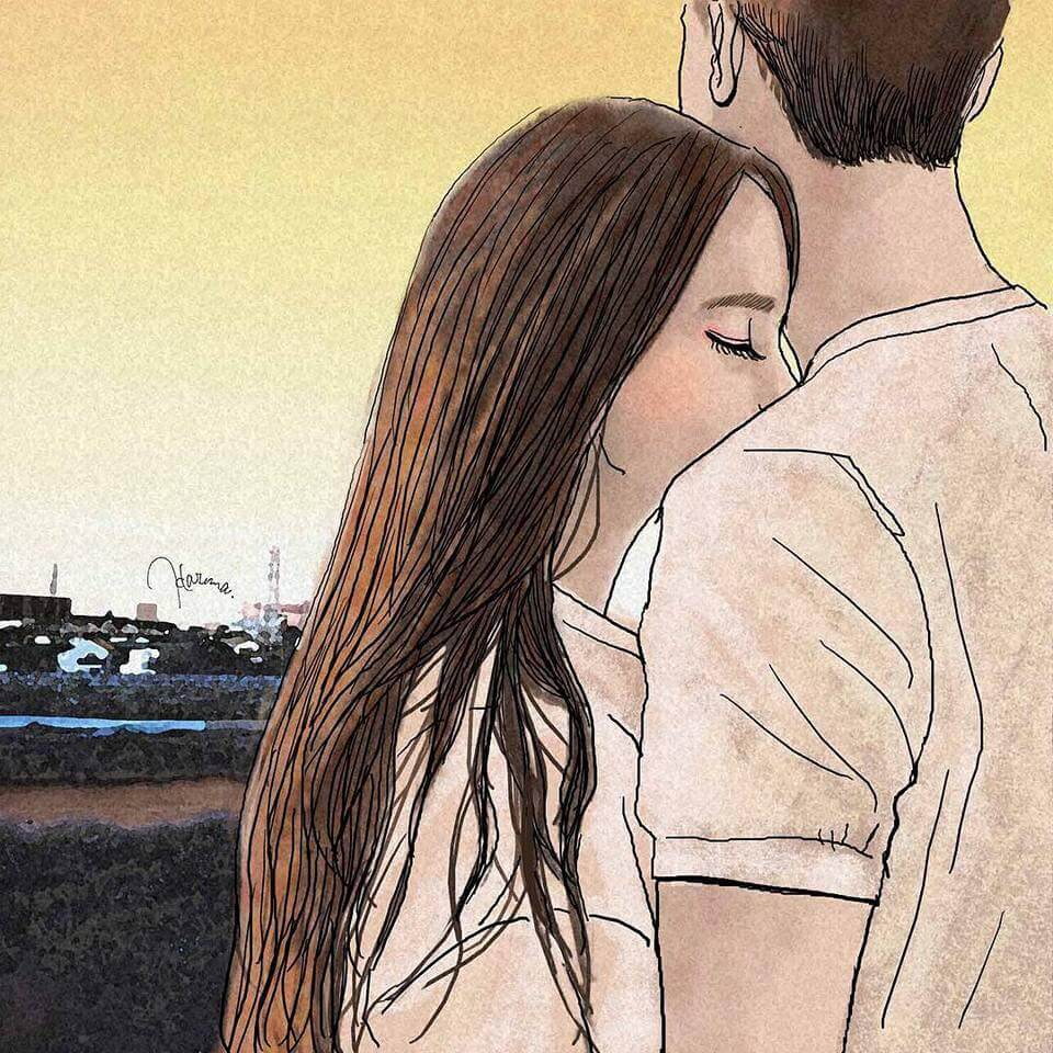 Intriguingly Beautiful Illustrations Show What It's Like To Be Crazy In Love