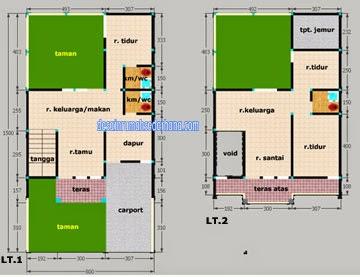 desain rumah minimalis 2 lantai type 100 luas tanah 120 m2