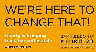 say hello with keurig banner