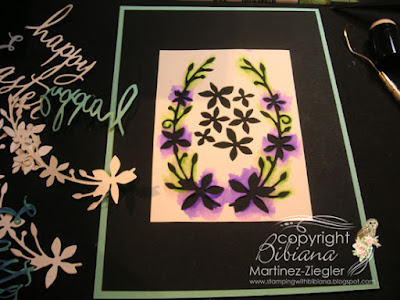 dies as stencils color with watercolors black card supplies