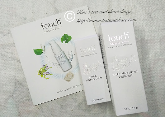 REVIEW : TouchTM Bird's nest Skincare Firming Activator Serum And Hydro-regenerating Moisturizer