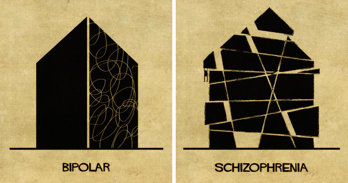 16 Mental Disorders Illustrated Through Architecture