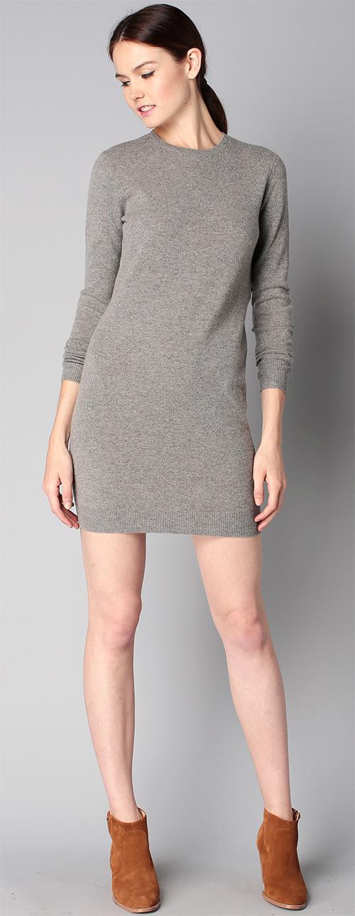 Robe pull grise en laine Polo Ralph Lauren