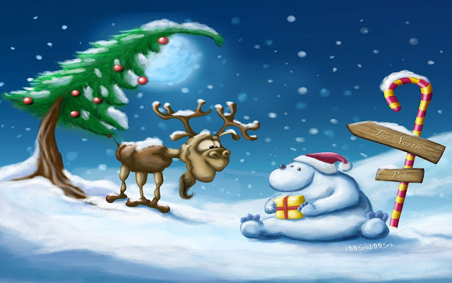 Cute  Cartoon Christmas Wallpapers