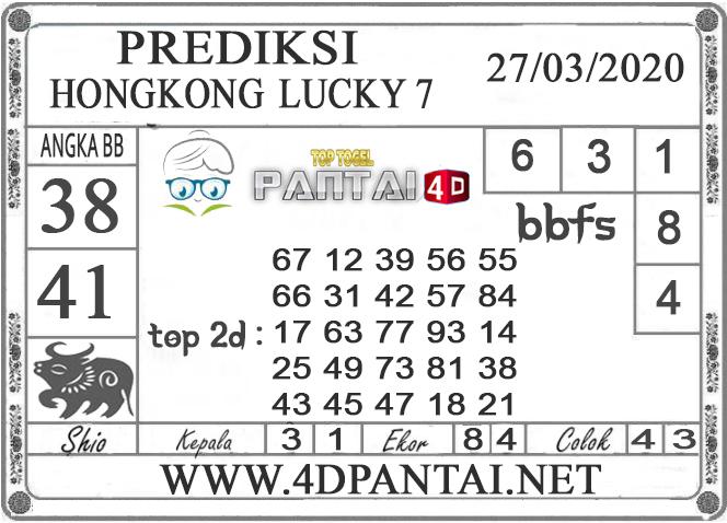 PREDIKSI TOGEL HONGKONG LUCKY 7 PANTAI4D 27 MARET 2020