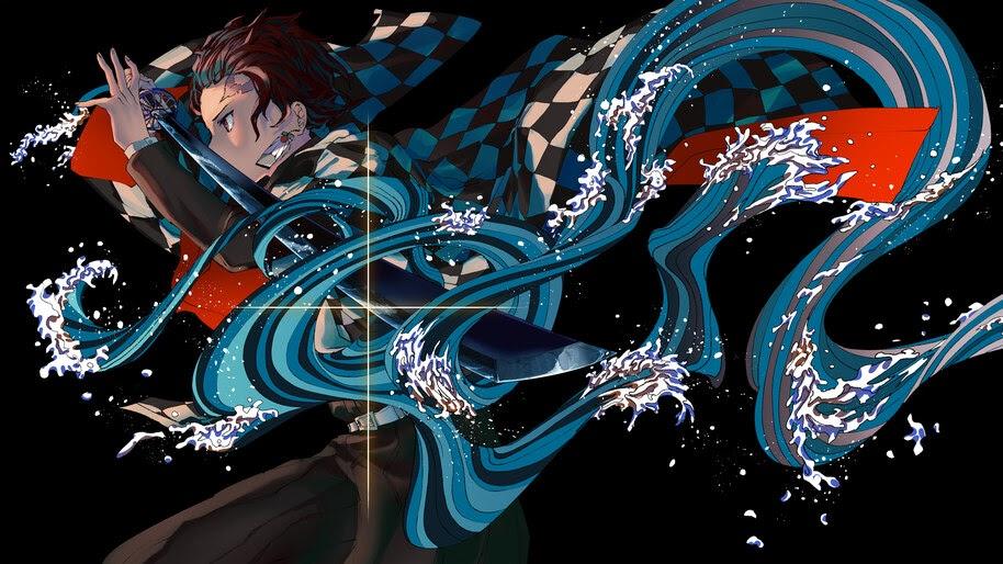 Tanjiro, Water, Breathing, Kimetsu no Yaiba, 8K, #3.1433