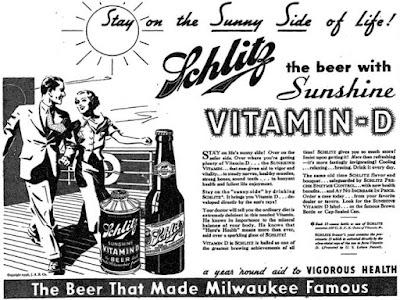 Schlitz -- the beer with sunshine vitamin D