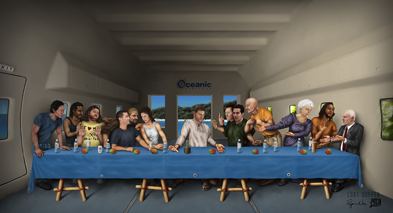 The LOST Last Supper by Ryan Nore