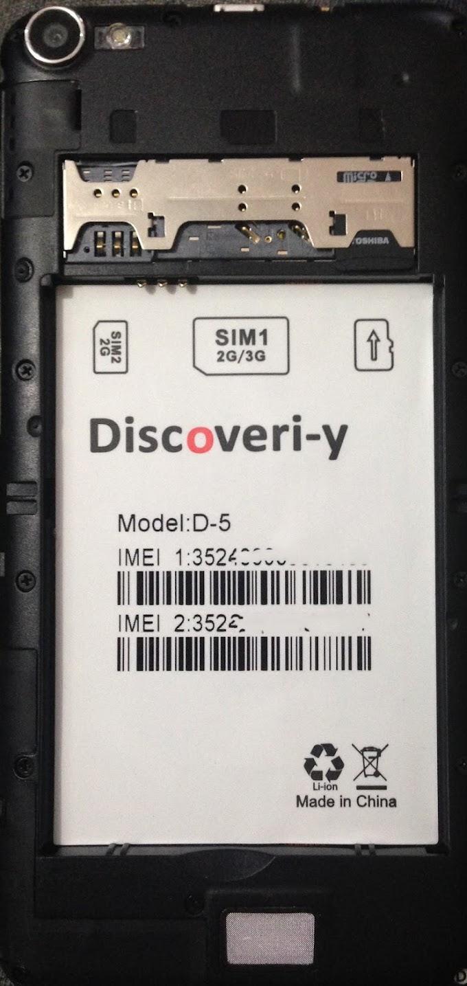 DISCOVERI-Y D-5 FLASH FILE MT6572 FIRMWARE