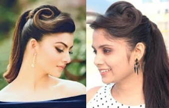 Ponytail With Puff Hairstyle inspired By Urvashi Rautela | DIY Ponytail For School & Collage