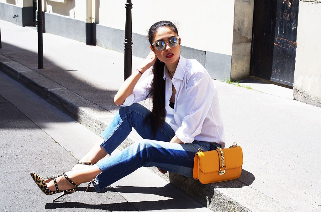 Elizabeth l Monday Blues two tone denim outfit l jeans Zara Valentino l THEDEETSONE l http://thedeetsone.blogspot.fr