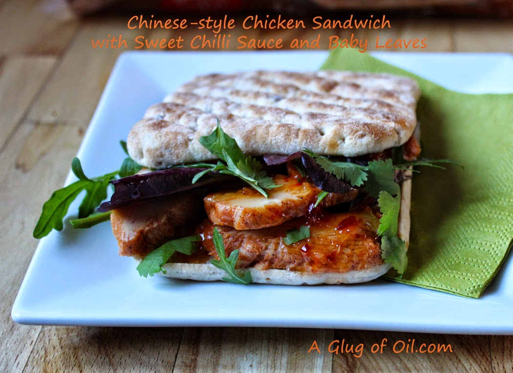 Chinese-style Chicken with Sweet Chilli Sandwich