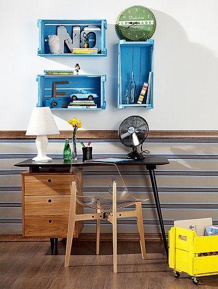 revista de decoração, caixotes de feira, decoração sustentável,decoração de interiores,designer de interiores, home office