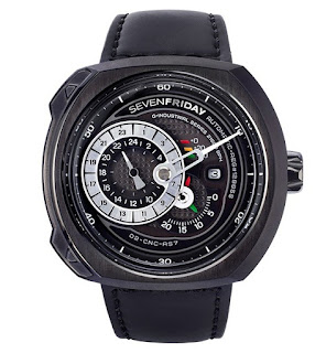 SEVENFRIDAY Q3/01 Q-Series Automatic Miyota 8219 Black Leather Strap