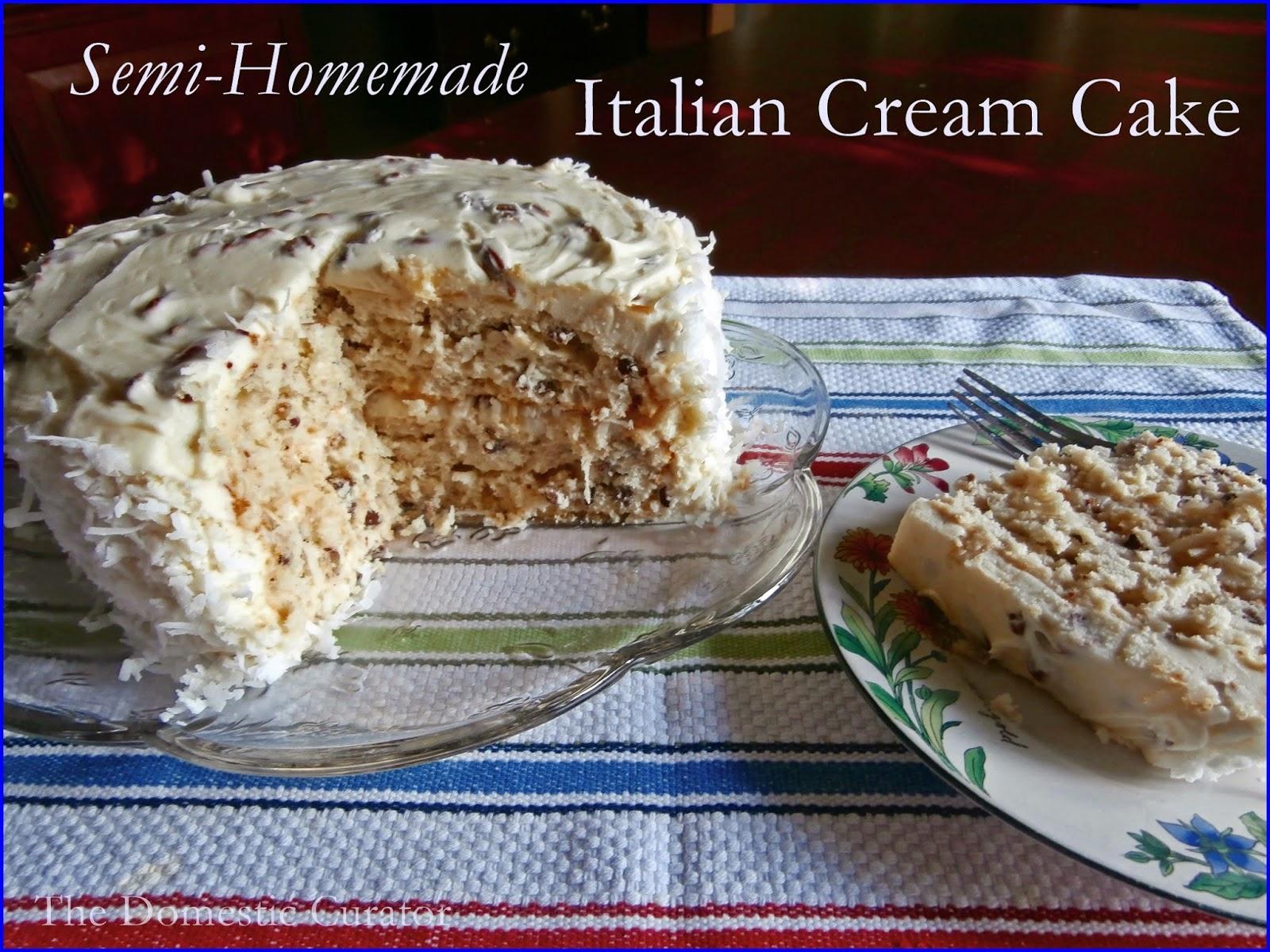 The Domestic Curator Semi Homemade Italian Cream Cake