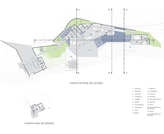 Site plan of the house