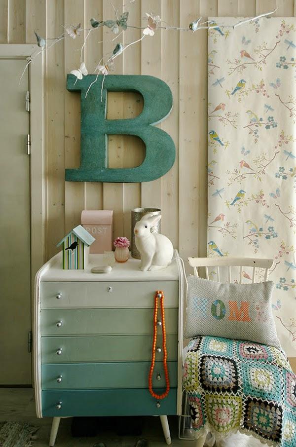Vintage furniture in a nursery