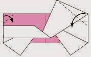 Bước 7: Gấp chéo góc tờ giấy xuống phía dưới.