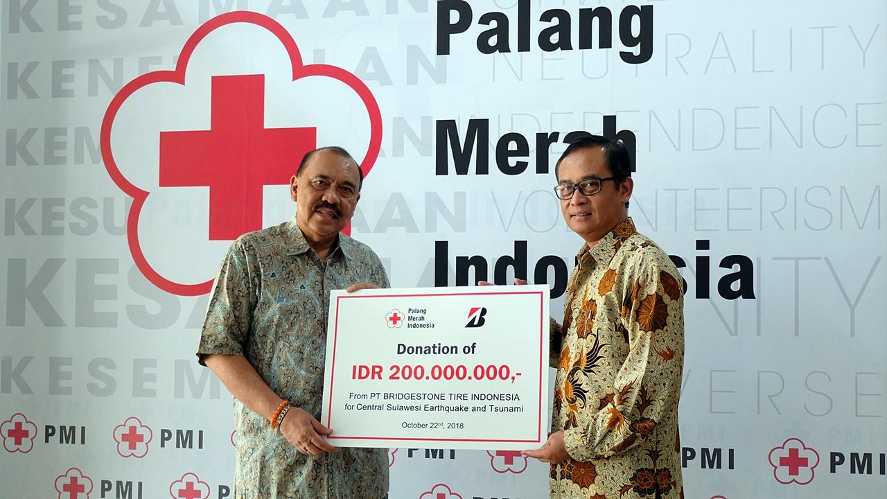Bridgestone Indonesia Sumbang Rp 280 Juta Bagi Para Korban Gempa Dan Tsunami Di Sulawesi Tengah