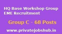HQ Base Workshop Group EME Recruitment