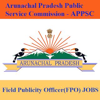 Arunachal Pradesh Public Service Commission, APPSC, PSC, Arunachal Pradesh, Graduation, Field Publicity Officer, freejobalert, Sarkari Naukri, Latest Jobs, appsc logo