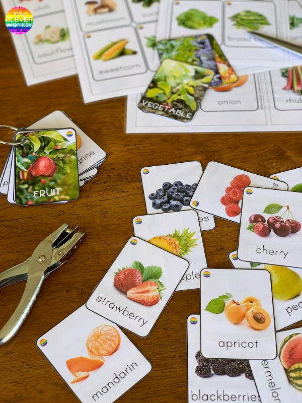Fruit and Vegetable Flashcards | you clever monkey