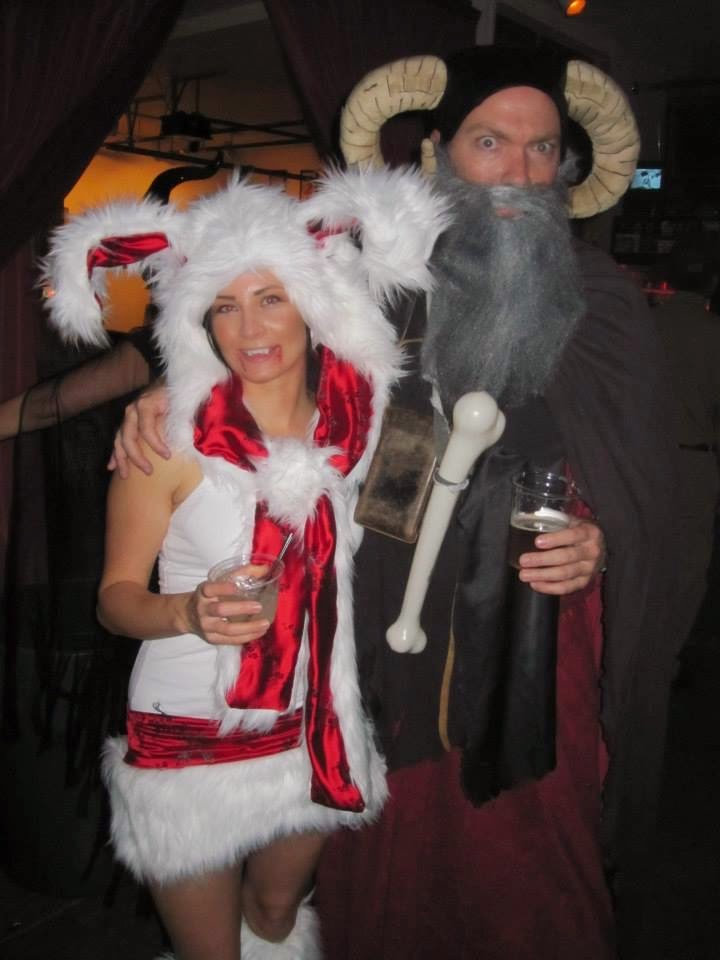 Emilee (my amazing girlfriend) made her costume 100% by hand. Including the hood and ears. Which she made quicker than I could cut rough edges in my Tim ...  sc 1 st  Bill Doty & Tim the Enchanter and the Rabbit of Caerbannog Costume for Halloween ...