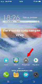 Cara Mode satu tangan layar kecil Vivo V9