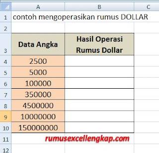 contoh data untuk rumus dollar