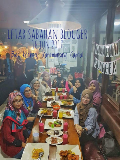 Iftar Sabahan Blogger di Bie's Kitchen Restaurant, Karamunsing Capitol