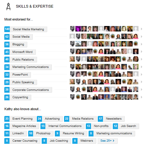 LinkedIn skills endorsement, LinkedIn skills and expertise endorsements,