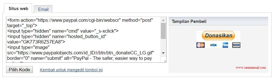 Cara Membuat Tombol Donasi Paypal di Blog 5