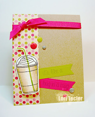 A Hug in a Mug card-designed by Lori Tecler/Inking Aloud-stamps from Lil' Inker Designs