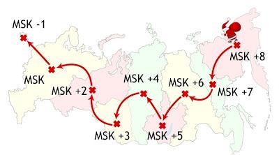 карта передвижения Деда Мороза по России в Новый год