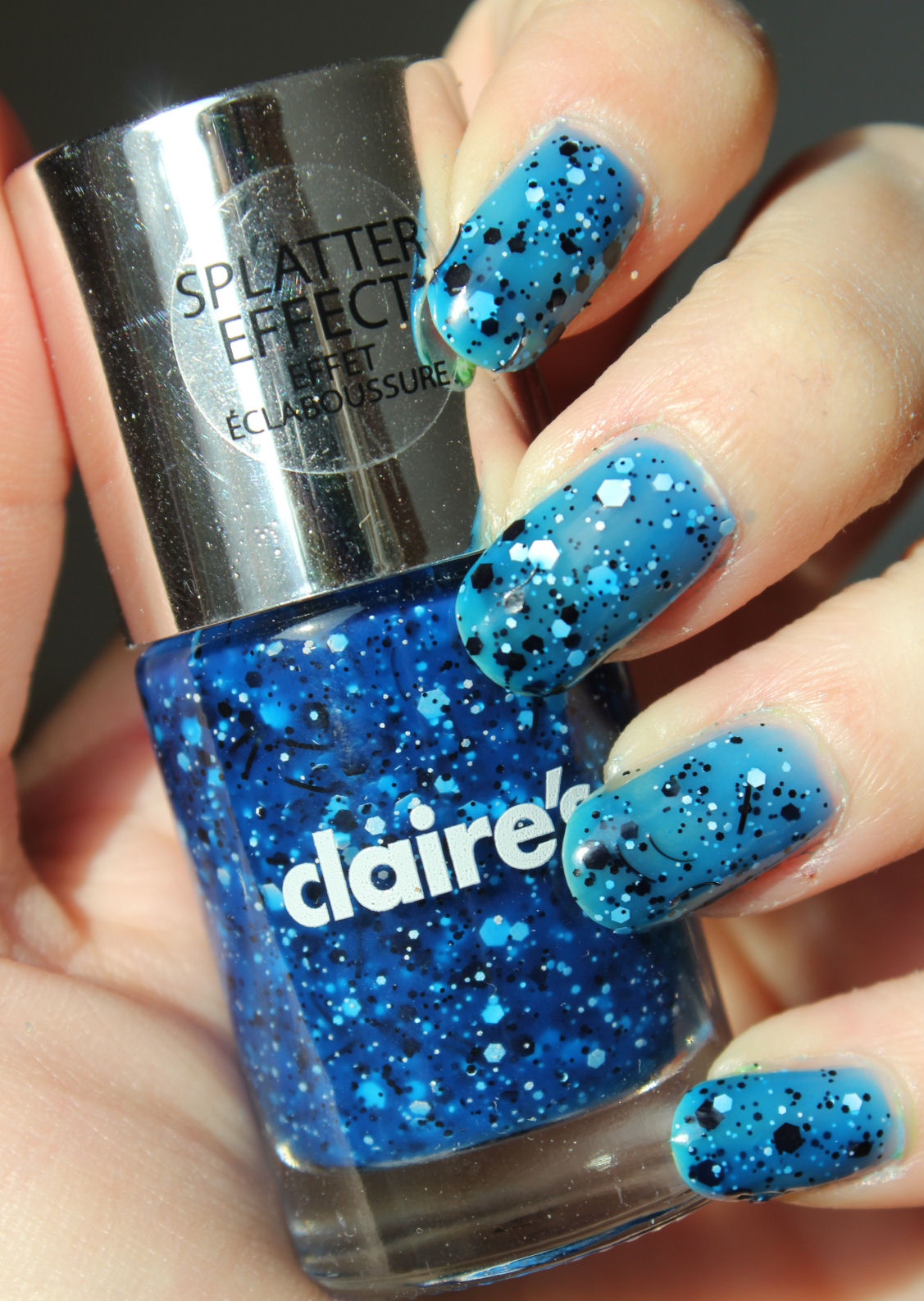 http://lacquediction.blogspot.de/2014/03/claires-splatter-blue.html