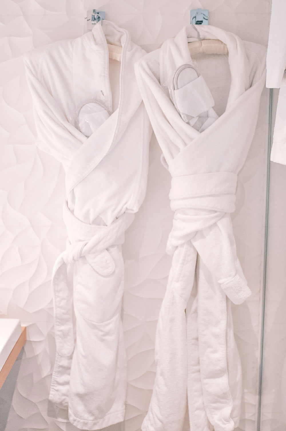 Cozy robes and slippers at Hotel Chavanel