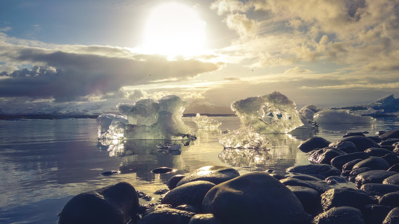 Wallpaper 6: Ice melts in Iceland