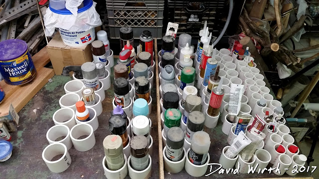 how to store paint cans, how to keep caulk tubes