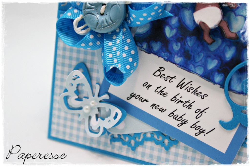 Paperesse Congrats on your new baby boy card