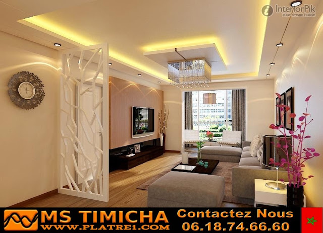 Decoration platre plafond salon ms timicha d coration for Platre decoration salon