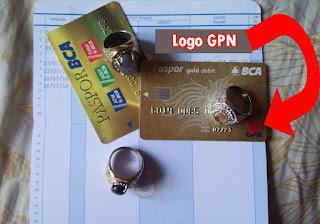 Kartu ATM BCA yang baru dengan logo GPN