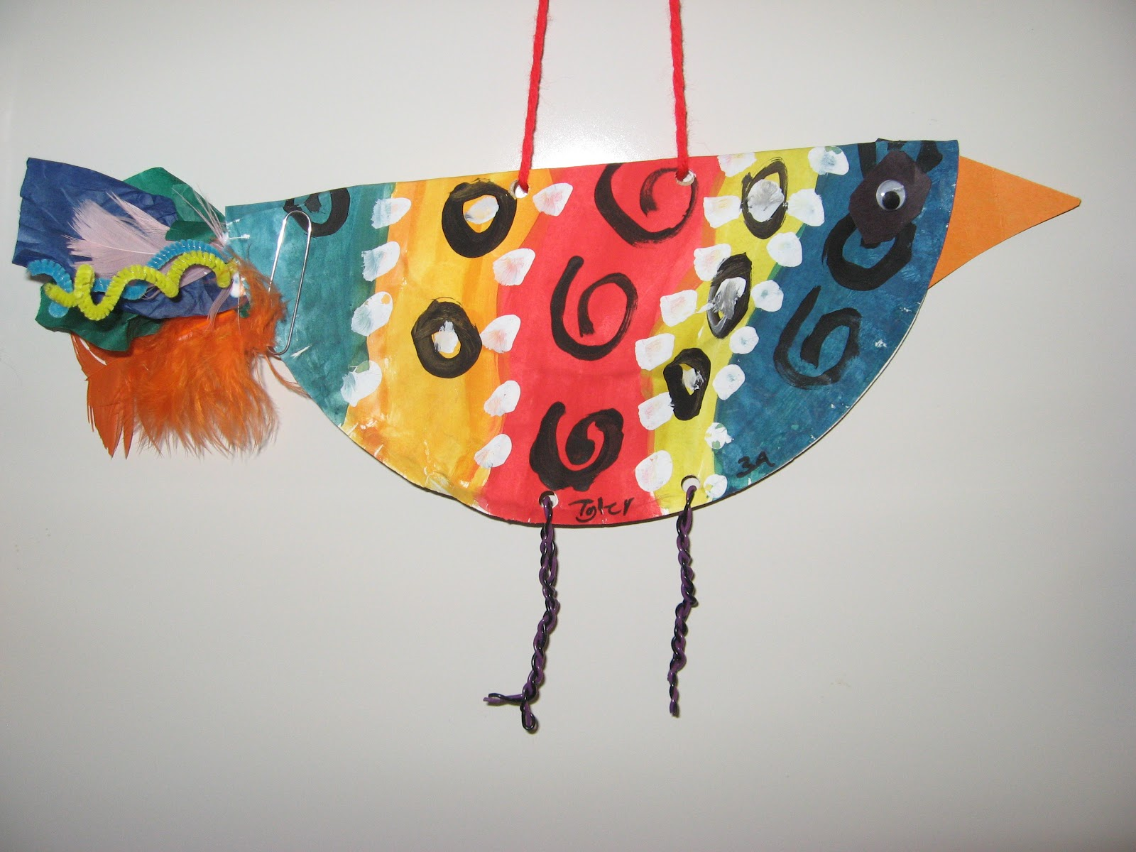 Jamestown Elementary Art Blog 3rd Grade Flying Birds