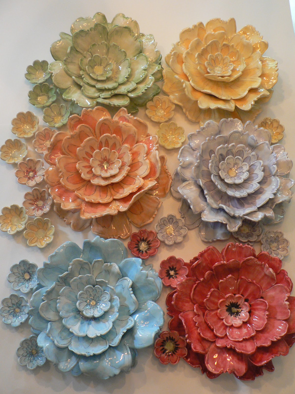 Unique Janet Francoeur My Art - My Travels - My Thoughts: Ceramic Flower  OT72
