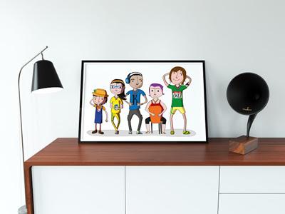 Il·lustració de Personatges Jamborinada
