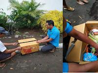 Bayi Perempuan di Temukan di Dalam Kardus di Desa Sambirejo Kecamatan Pare Kabupaten Kediri