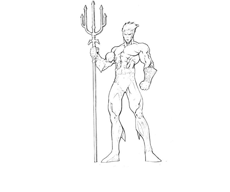 Aquaman Coloring Drawings Sketch Coloring Page