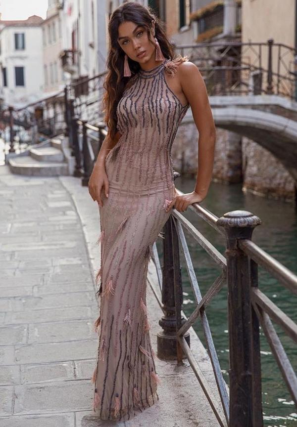 vestido de festa longo justo
