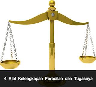 4 Alat Kelengkapan Peradilan dan Tugasnya