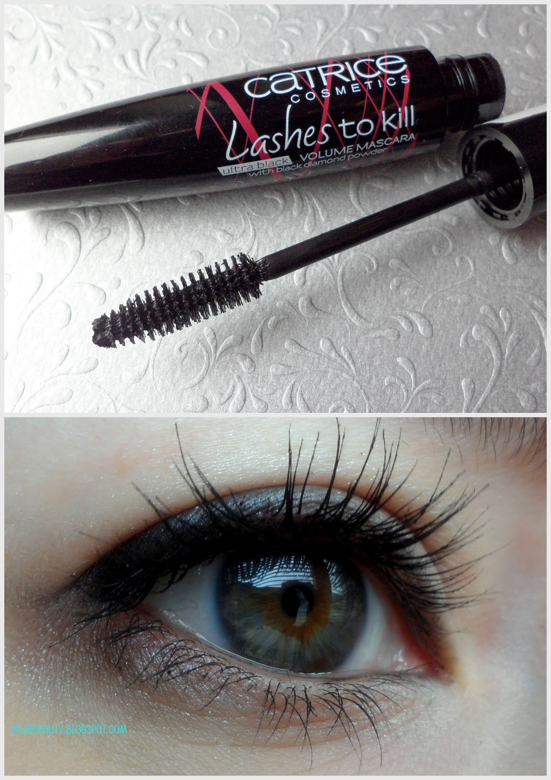 Catrice Lashes to Kill Ultra Black Volume Mascara With Black Diamond Powder